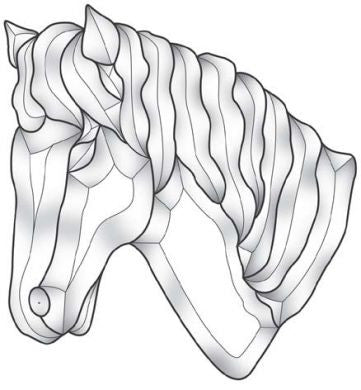 Bevel Cluster Horse Head EC184