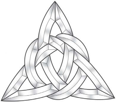 Celtic Triangle Bevel Cluster ec825