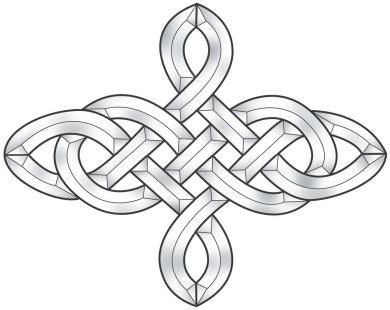 4 Point Celtic Knot Bevel Cluster EC826