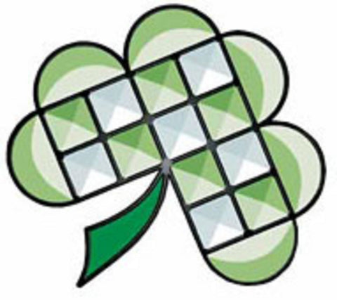 Stained Glass Supplies Green Shamrock Bevel Cluster Kit with Pattern