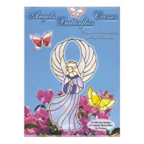 Angels, Butterflies and Crosses Stained Glass Pattern Book