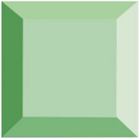 3 x 3 Inch Green Square Bevels 6 Pack