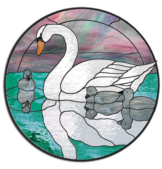Free Stained Glass Patterns Swan Circle By Leslie Gibbs The Beauteous Stain Glass Patterns