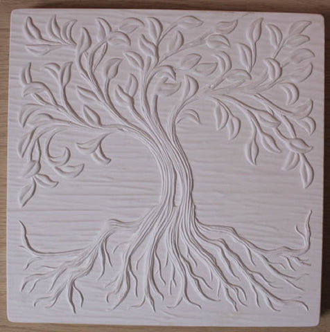 12 X 12 Inch Tree of Life Texture Tile Mold for Glass Slumping
