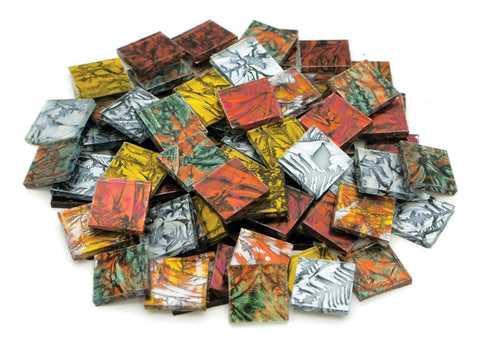 "3/4"" Van Gogh Metallics Mix - Mosaic Glass Chips"