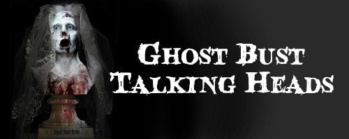 Ghost Bust Talking Heads Halloween Decorations