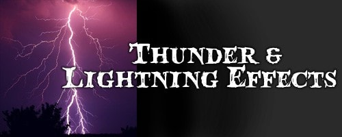 Thunder & Lighting Effects Halloween Decorations