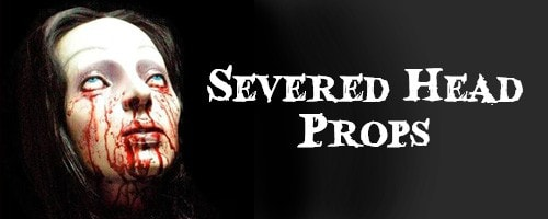 Severed Head Halloween Props