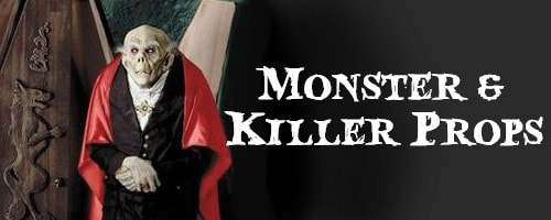 monsters killers standing halloween props
