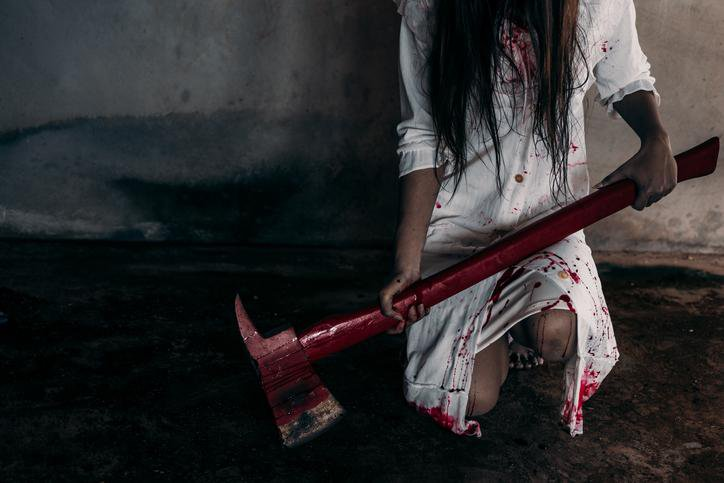 Horror - Woman with Bloody Axe