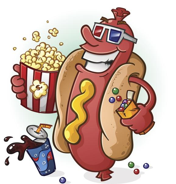 Movie Concessions - Hot Dog, Popcorn, Soda
