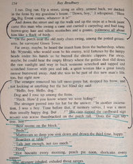 An annotated page from Elizabeth Leggett's copy of A Body Electric