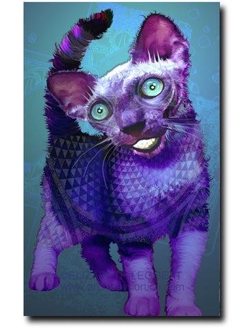 Cheshire Kitten - Portico Arts - Art Print by Elizabeth Legget