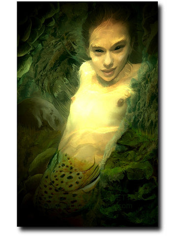 Mermaid - Portico Arts - Art Print by Elizabeth Legget