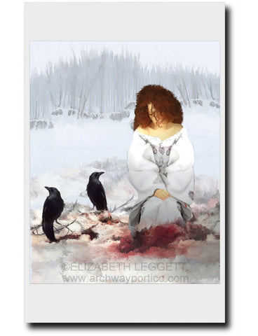 Murder of Crows - Portico Arts - Art Print by Elizabeth Legget
