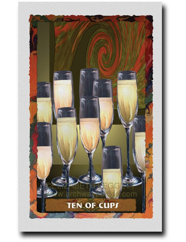 Ten Of Cups - Portico Arts - Art Print by Elizabeth Legget