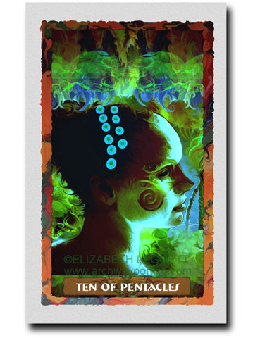 Ten Of Pentacles - Portico Arts - Art Print by Elizabeth Legget