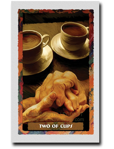 Two Of Cups - Portico Arts - Art Print by Elizabeth Legget