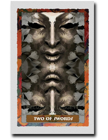 Two Of Swords - Portico Arts - Art Print by Elizabeth Legget
