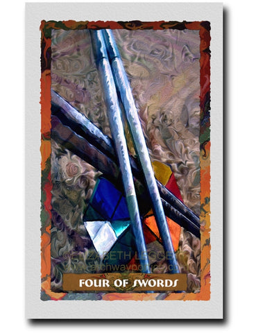 Four Of Swords - Portico Arts - Art Print by Elizabeth Legget