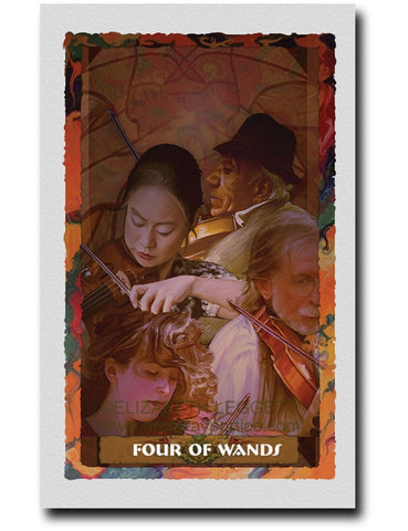 Four of Wands - Portico Arts - Art Print by Elizabeth Legget