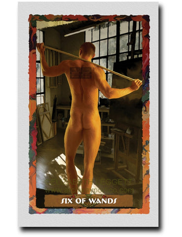 Six of Wands - Portico Arts - Art Print by Elizabeth Legget