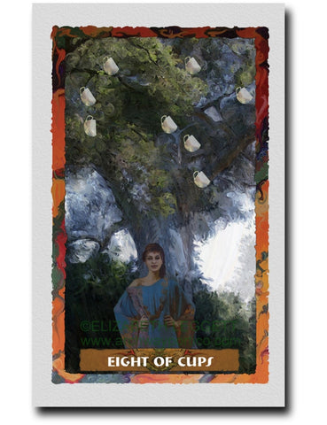 Eight Of Cups - Portico Arts - Art Print by Elizabeth Legget