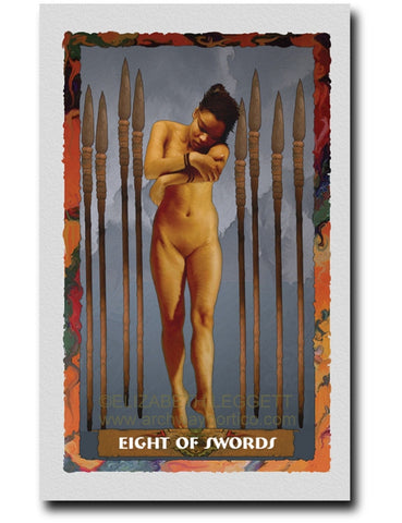 Eight Of Swords - Portico Arts - Art Print by Elizabeth Legget