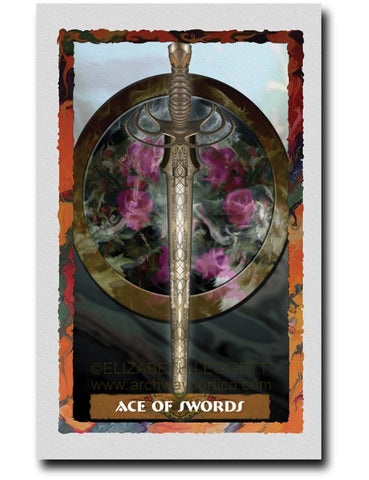 Ace Of Swords - Portico Arts - Art Print by Elizabeth Legget