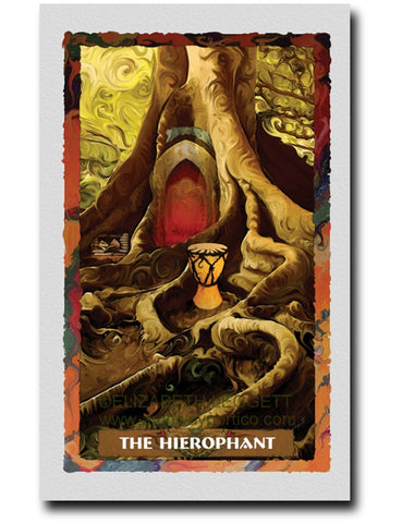 05 The Hierophant - Portico Arts - Art Print by Elizabeth Legget