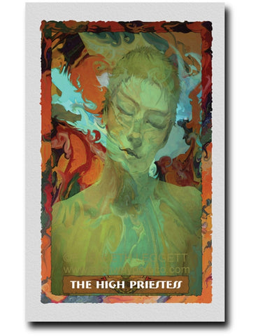 02 The High Priestess - Portico Arts - Art Print by Elizabeth Legget
