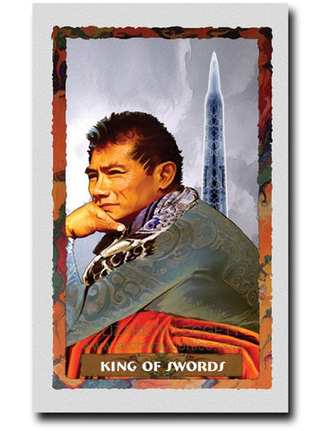 King Of Swords - Portico Arts - Art Print by Elizabeth Legget