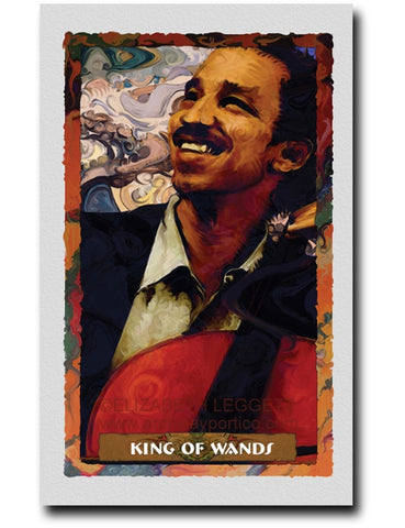 King of Wands - Portico Arts - Art Print by Elizabeth Legget