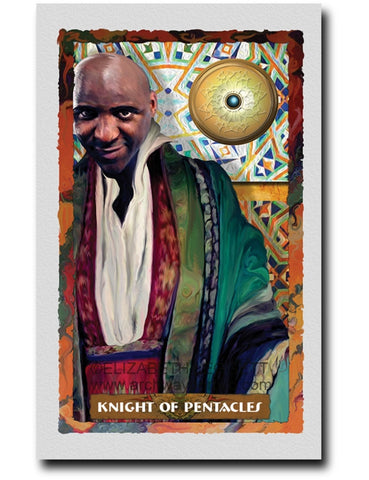 Knight Of Pentacles - Portico Arts - Art Print by Elizabeth Legget