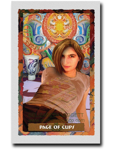 Page Of Cups - Portico Arts - Art Print by Elizabeth Legget