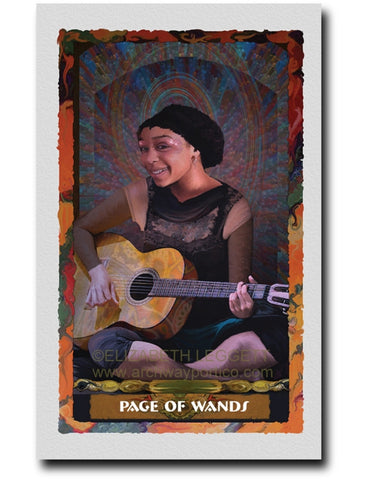 Page of Wands - Portico Arts - Art Print by Elizabeth Legget