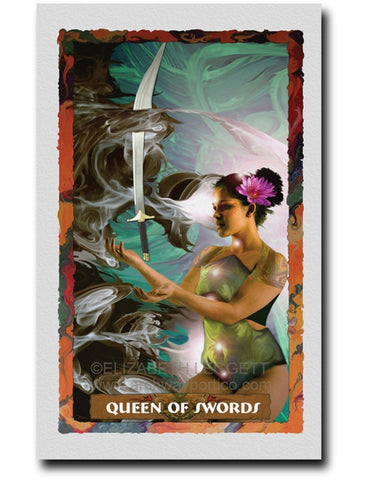 Queen Of Swords - Portico Arts - Art Print by Elizabeth Legget