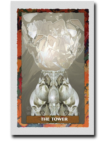 16 The Tower - Portico Arts - Art Print by Elizabeth Legget