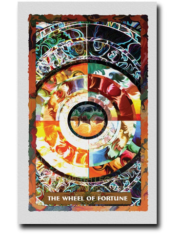 10 Wheel of Fortune - Portico Arts - Art Print by Elizabeth Legget