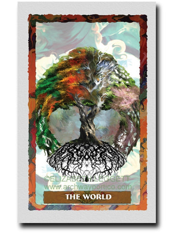 21 The World - Portico Arts - Art Print by Elizabeth Legget