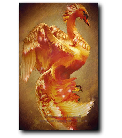 Firebird's Child - Portico Arts - Art Print by Elizabeth Legget