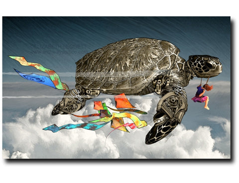 Clockwork Turtle - Portico Arts - Art Print by Elizabeth Legget