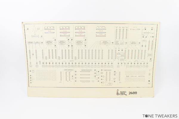 ARP 2600 Rare Teaching Front Panel Facsimile
