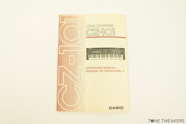 Casio CZ-101 Owners Manual