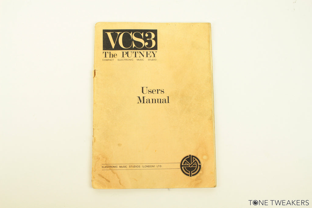 EMS VCS3 Owners Manual