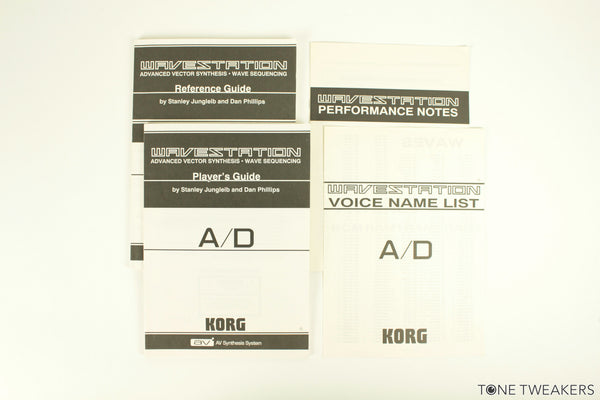 Korg Wavestation A/D Original Manuals