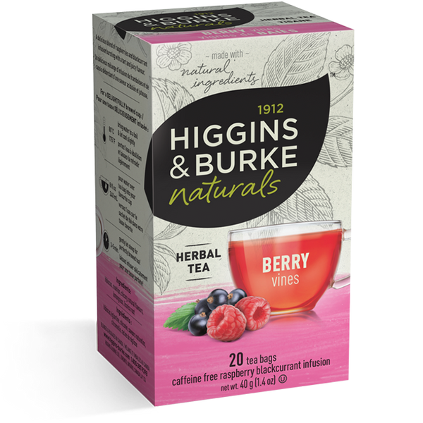 Higgins & Burke Raspberry Blackcurrant (Berry Vines) Herbal Tea (120 Tea Bags)