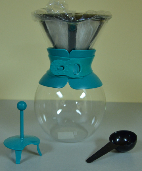 Bodum POUR OVER Coffee maker, 1.0l, 34oz - Teal