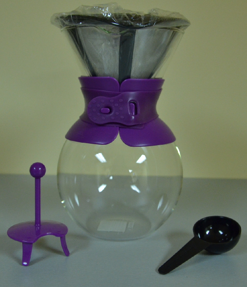 Bodum POUR OVER Coffee maker, 1.0l, 34oz - Purple