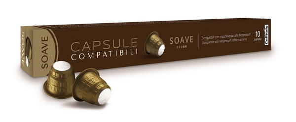 Caffitaly Soave Espresso Capsules for Nespresso (10 Units)